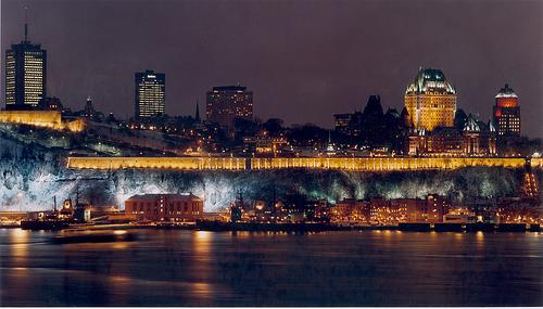Ville de Québec illuminée