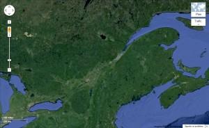 Carte fleuve St-Laurent